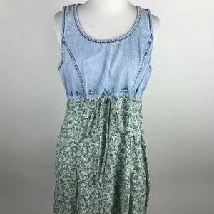 All That Jazz 90s Grunge Vintage Blue Floral Dress